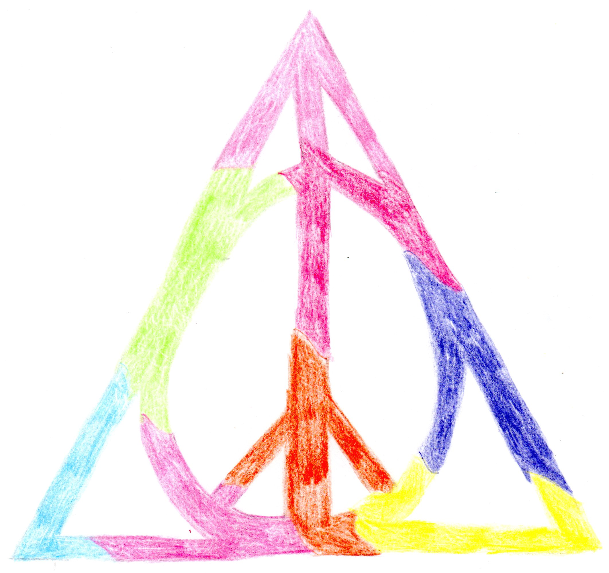 Ten past posts about harry potter one about jk rowling deathly hallows peace symbol artwork that i made in 2012 biocorpaavc