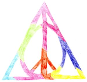 Deathly Hallows peace symbol artwork that I made in 2012...