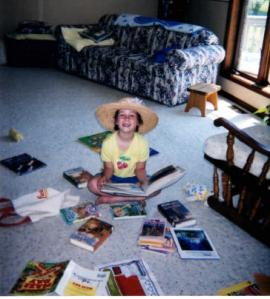 nevillegirl-amid-books