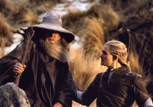 On the left, Gandalf the Grey