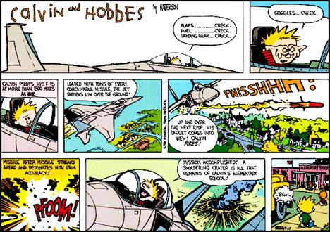 calvin_and_hobbes_demolish_school_bomb_fighter_jet