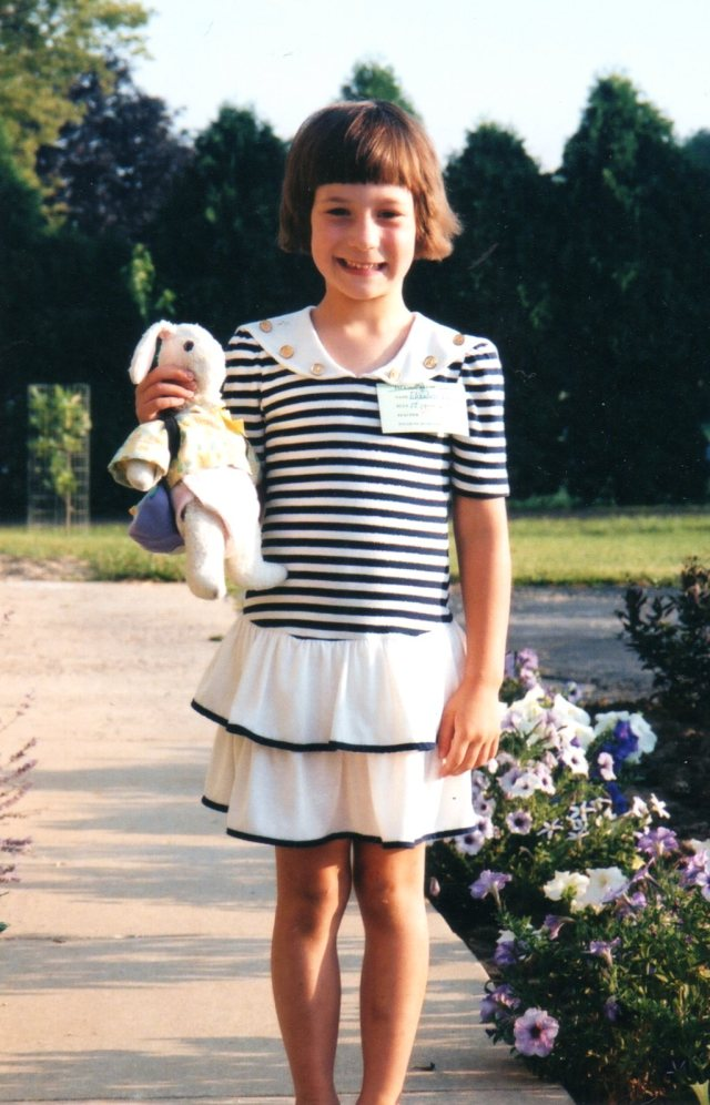 Lizzie First Day of School-2002