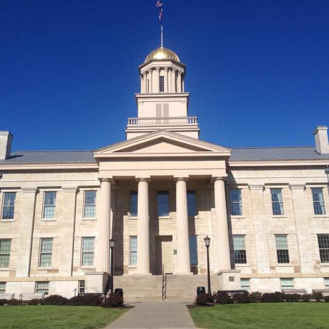 The Old Capitol, a historic landmark on campus that I see every day as I walk to class.