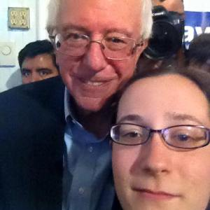 bernie sanders selfie october 18 2015