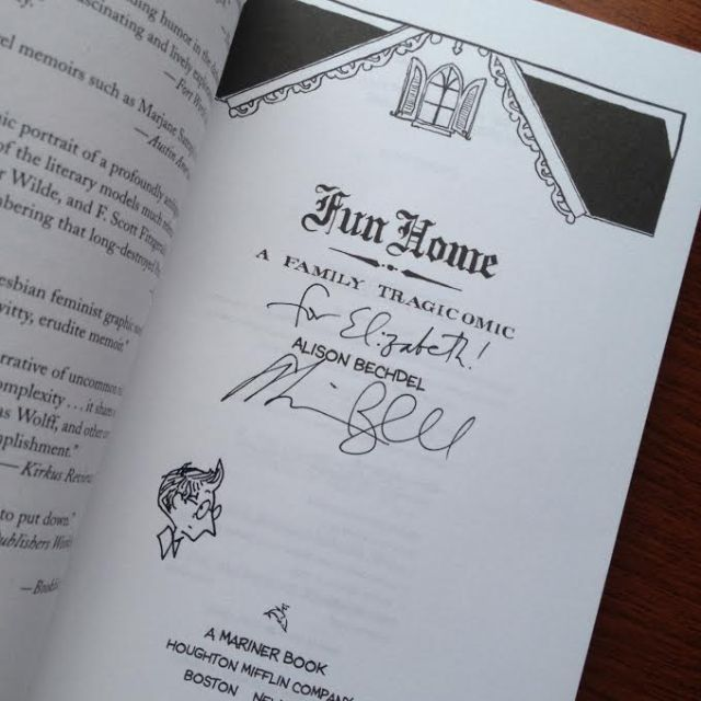 fun home - signed copy