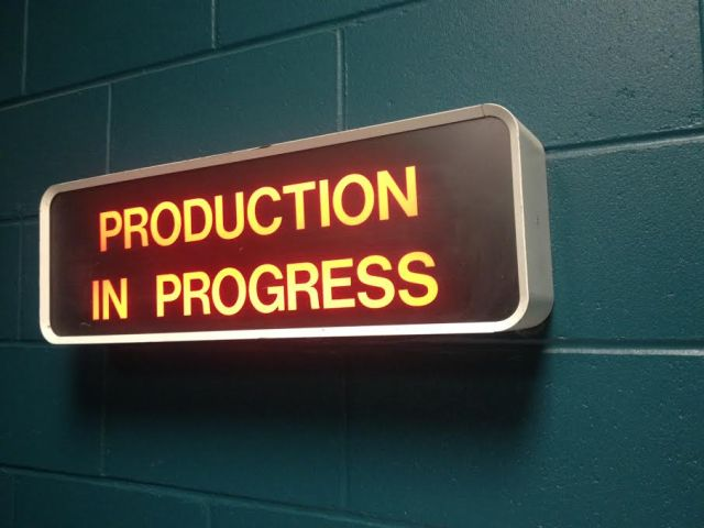 summer 2016 acting class - production in progress sign